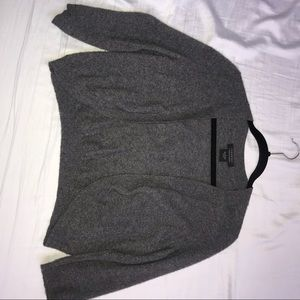 Bloomingdales 100% cashmere grey bolero cardigan